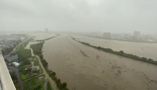 【動画】多摩川氾濫の可能性は?台風19号の影響で記録的な雨量を観測