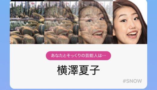 【SNOWそっくり診断】人以外のものは横澤夏子になるバグ?まさかの画像まとめ!